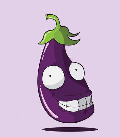 unpeeled: create cartoon eggplant