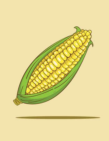 corncob: Corn vector