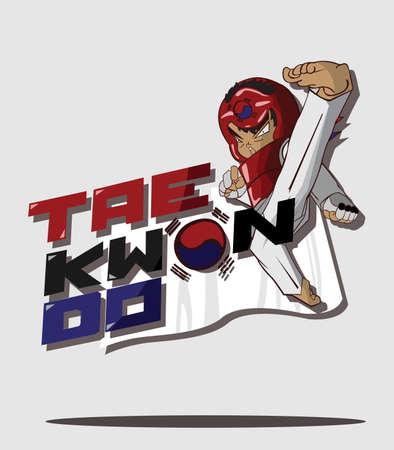taekwondo art martial Illustration