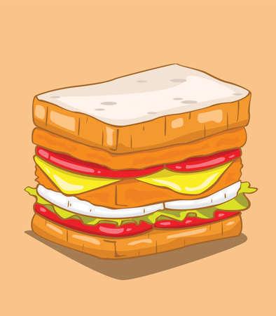 Hamburger Vecteur Illustration