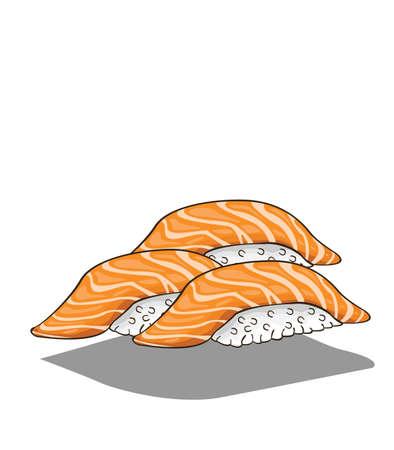 Sushi salmon Vector