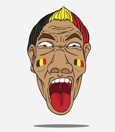 fan de football de la belgique