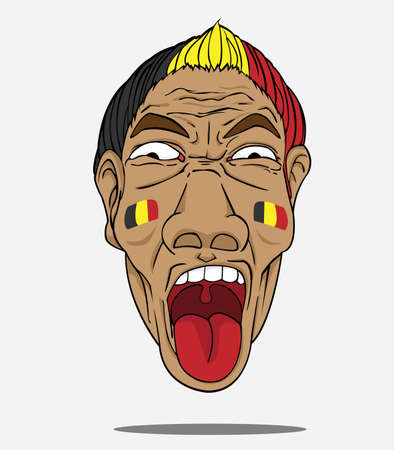 football fan from belgium