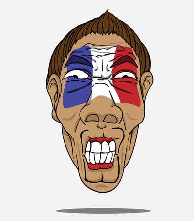 football fan: football fan from France