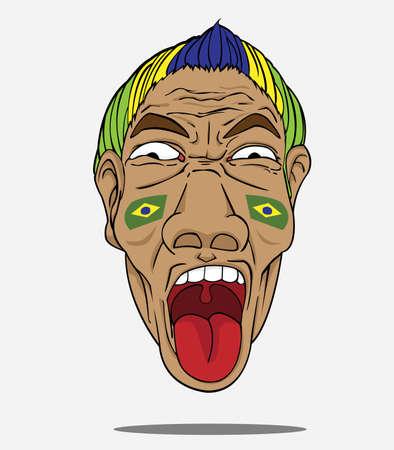 football fan: football fan from Brazil