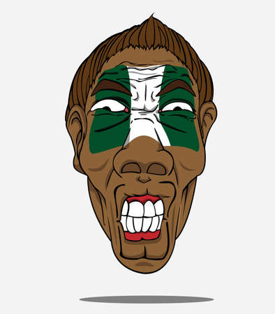 football fan: football fan from Nigeria Illustration