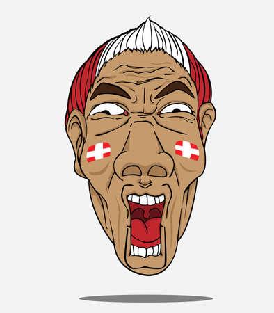 football fan: football fan from Denmark