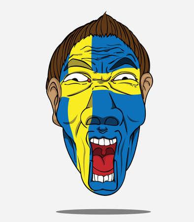 football fan from sweden Vector