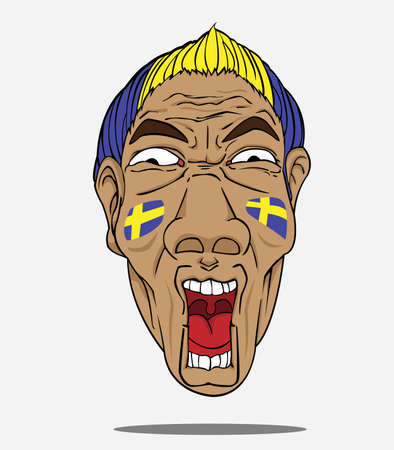 football fan from sweden Vector