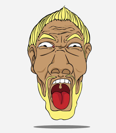 rostro hombre: Hombre de la cara Vectores