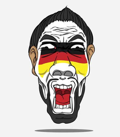 football fan: football fan from german Illustration