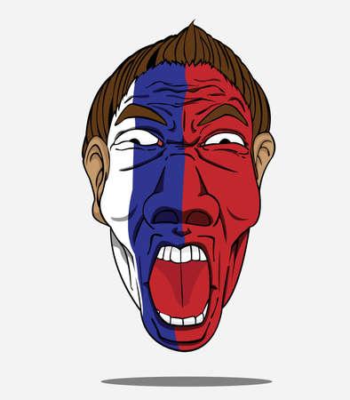 football fan: football fan from Russia Illustration