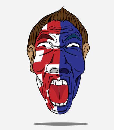 fan de football de Croatie