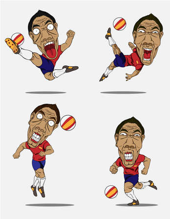 soccer players: Soccer players collection. Vector design Illustration