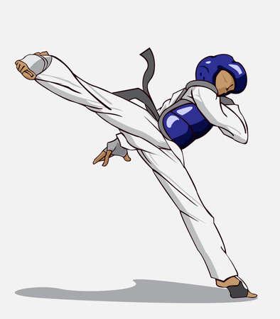 kwon: Taekwondo. Martial art