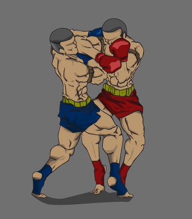 elbows: Thai boxing or Muay Thai. Martial art