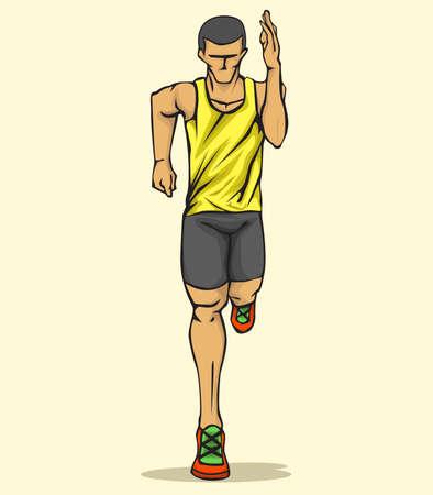 running: Running man Stock Photo
