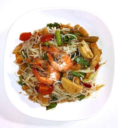 style: Salad thai style, som thum par. Stock Photo