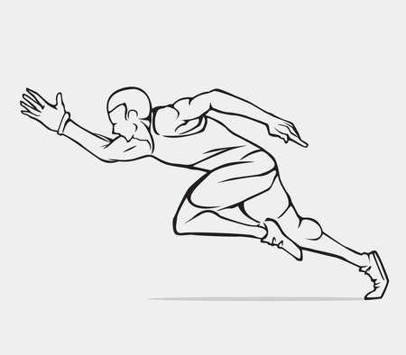 running: Running man Illustration