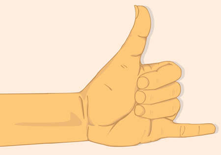 call me: Call me hand sign. vector and illustration design