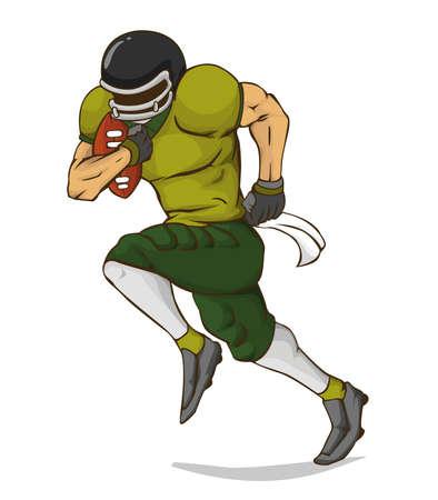 touchdown: American FootBall Player Vector design Illustration