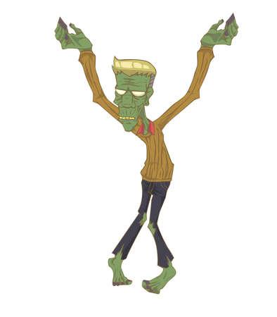 didactic: Zombie Monster in Halloween night