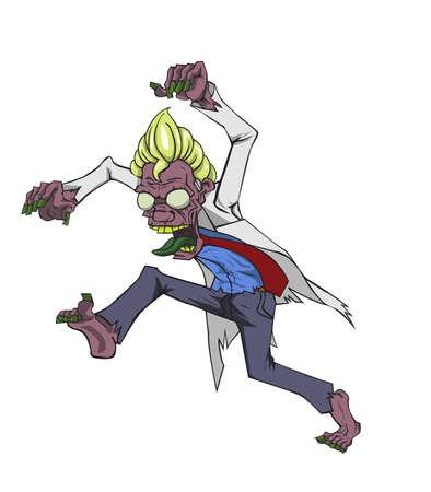 didactic: Doctor zombie. Monster in Halloween night Illustration