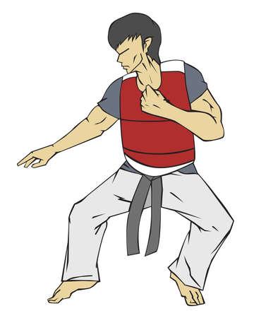kwon: Taekwondo Martial art Illustration