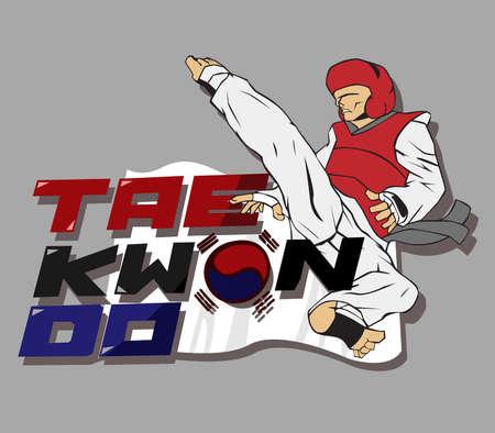 kwon: Create taekwondo logo. vector and illustration