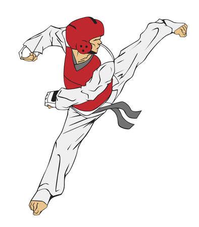 Taekwondo Martial art Illustration