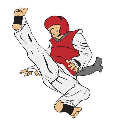 master: Taekwondo Martial art Illustration