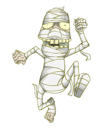 Mummy Character vector and illustration. Monster in Halloween night