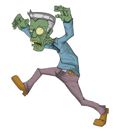 Zombie Character vector and illustration. Monster in Halloween night