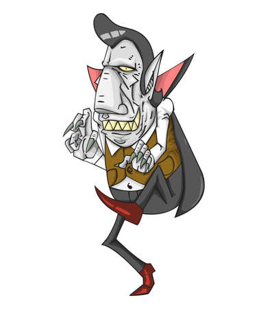 Dracula vector and illustration. monster in Halloween night