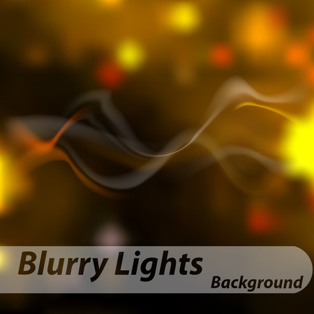 haze: Abstract background. Smoke, haze on background of blurred lights yellow and red.