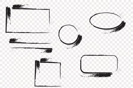 Mano grunge disegnato con lo spazio per il testo. macchie di inchiostro.