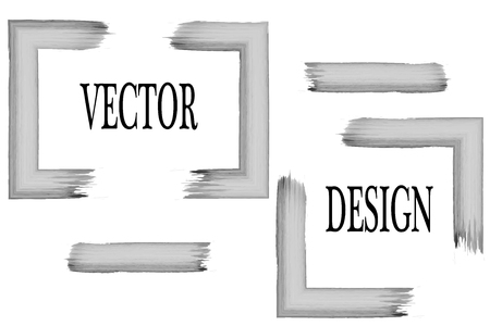 intermittent: Hand drawn grunge frame with space for text and brush stroke on a white background. Vector Art Brush. Illustration