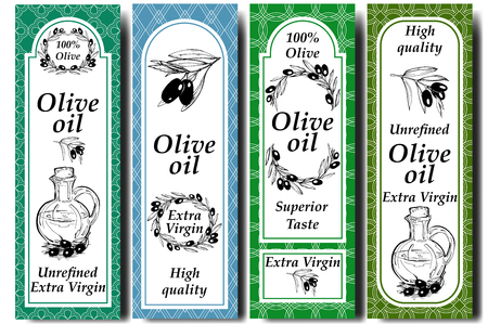 Vector Packaging Design Elements And Templates For Olive Oil ...