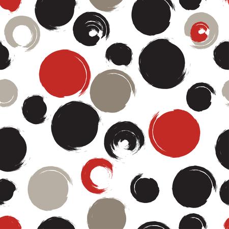 circles: Seamless universal pattern. Polka dots, circles, strips.