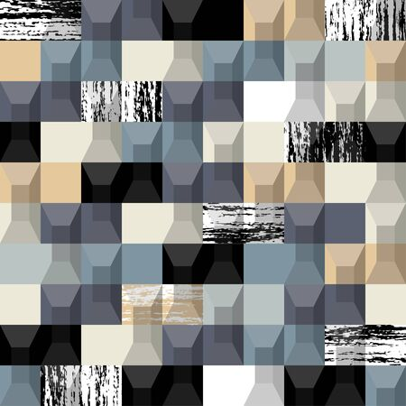 rectangle: Abstract background. Modern seamless pattern with rectangle. Vector illustration. Illustration