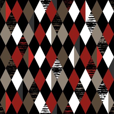 diamond background: Abstract background. Modern seamless pattern with diamond. Vector illustration. Illustration