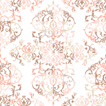 vintage lace: Vector abstract seamless patchwork pattern with geometric and floral ornaments, stylized flowers, dots, snowflakes and lace. Vintage arabic style.