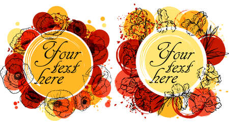 place for your text: colorful flowers background with place for your text.