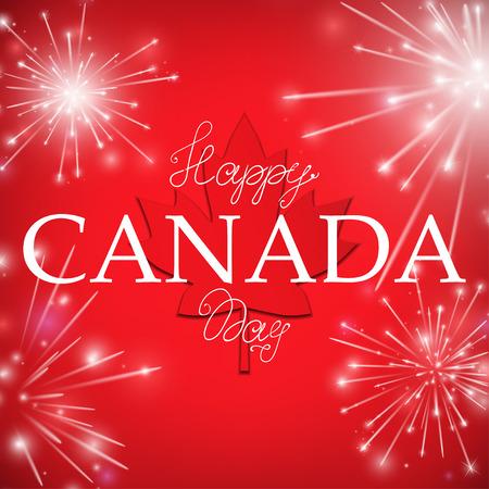 Happy Canada Day card. Vector illustration.