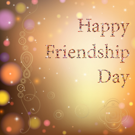 brotherhood: Vector illustration card with colourful text for friendship day. Illustration