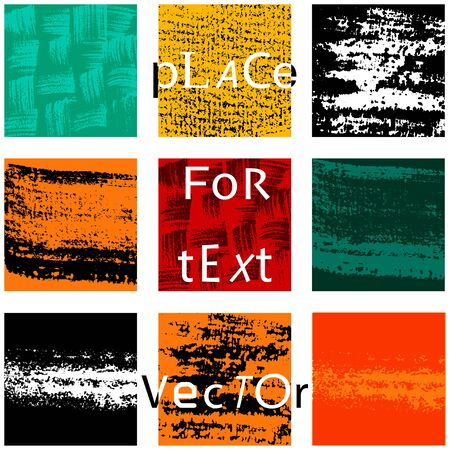 Set of different Grunge squares with place for your text. vector illustration. Abstract geometric shapes. Illustration