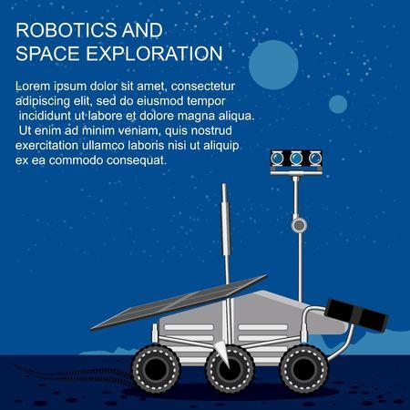 robotics and space exploration vector illustration Illustration