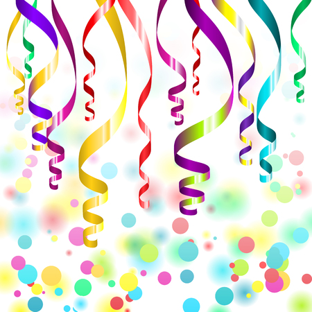 streamers: confetti and streamers Illustration