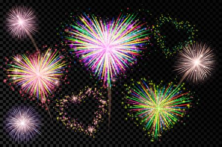 holiday: Vector holiday valentine firework Illustration