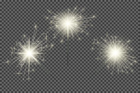 bengal fire: Closeup isolated sparkler shine bengal lights for holiday decor.